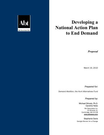 Developing a National Action Plan to End Demand