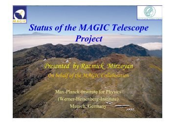 Status of the MAGIC Telescope Project