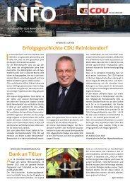 Erfolgsgeschichte CDU Reinickendorf Dank an TXLer