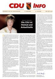 Die CDU ist Heimat und Anlaufstelle - CDU Reinickendorf