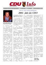 2004 - Jahr der CDU! - CDU Reinickendorf