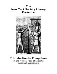 The New York Society Library Presents: Introduction to Computers