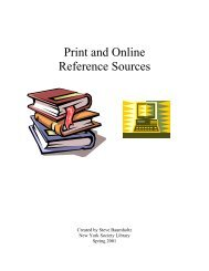 Print and Online Reference Sources - Public Web Server - New York ...