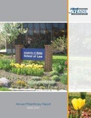Annual Philanthropy Report - University of Maine School of Law ...