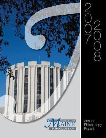 Annual Philanthropy Report - University of Maine School of Law