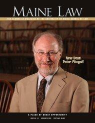 New Dean Peter Pitegoff - University of Maine School of Law ...