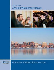 2008-2009 - University of Maine School of Law - University of Maine ...