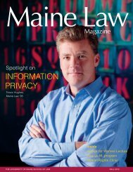 INFORMATION PRIVACY - University of Maine School of Law ...