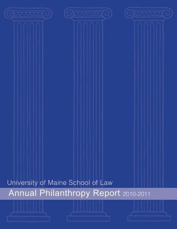 annual Philanthropy report 2010-2011 - University of Maine School ...