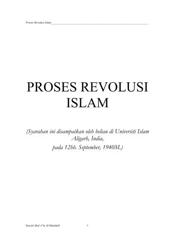 Proses Revolusi Islam