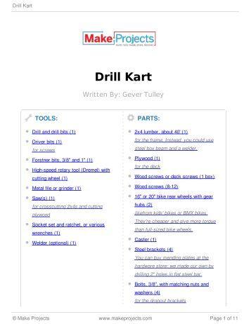 Drill Kart