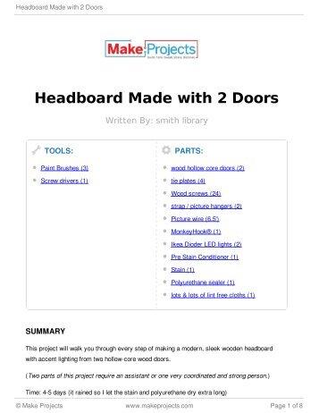 Headboard Made with 2 Doors