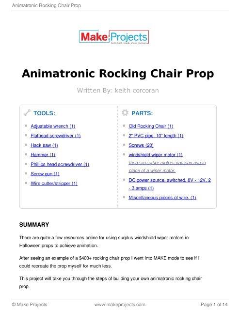 Amazing Animatronic Rocking Chair Prop Machost Co Dining Chair Design Ideas Machostcouk
