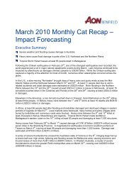 March 2010 Monthly Cat Recap – Impact Forecasting - Aon