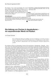 Die Haltung von Fischen in Aquakulturen - Projektbüro !make sense!