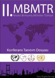 II. Model Birleşmiş Milletler Türkiye Konferansı - Malatya Milli Eğitim ...