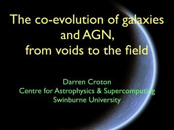 The co-evolution of galaxies and AGN, from voids to the field