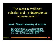 The mass-metallicity relation and its dependence on environment.
