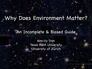 Why Does Environment Matter? - Galaxy Evolution and Environment