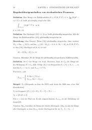 Regularitätseigenschaften von stochastischen Prozessen