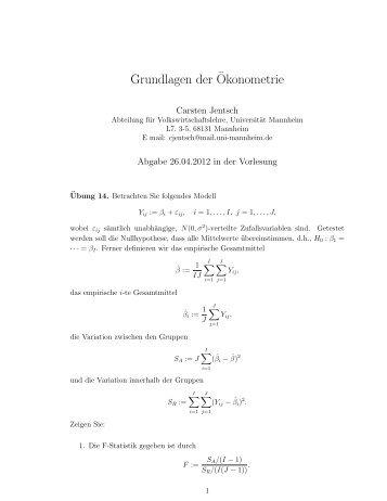Grundlagen der okonometrie f r for Grundlagen der tragwerklehre 1
