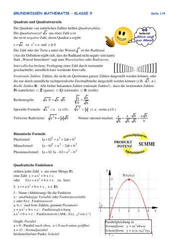 Grundwissen Klasse 9 - Mamtmann.de