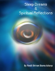 Sleep, Dream and Spiritual Reflections - Mandhata Global