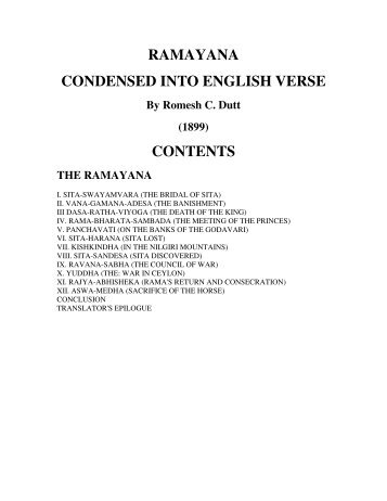 RAMAYANA CONDENSED INTO ENGLISH ... - Mandhata Global