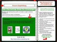 WEB Kurzpräsentation Marketingshop für Einsteiger