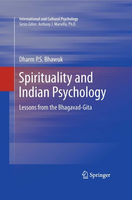 Spirituality and Indian Psychology: Lessons from     - Mandhata Global