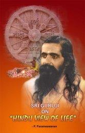 "SHRI GURUJI ON ""HINDU VIEW OF LIFE"" P ... - Mandhata Global"