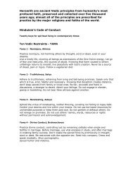 Hinduism's Code of Conduct - Brief Summary - Mandhata Global