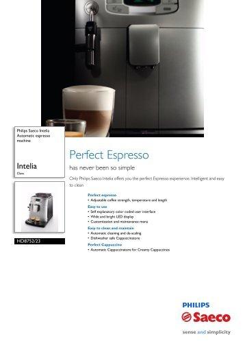 HD8752/23 Philips Automatic espresso machine - Appliances Online
