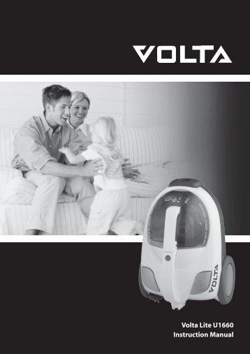 Volta Lite U1660 Instruction Manual - Appliances Online