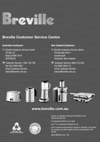 breville bakers oven plus instructions