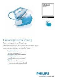 GC7420/02 Philips Pressurised steam generator - Appliances Online