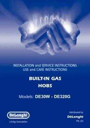 BUILT-IN GAS HOBS