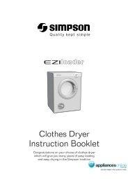 Instruction Booklet - Appliances Online