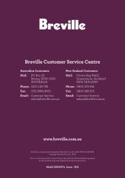 Breville Customer Service Centre - Appliances Online