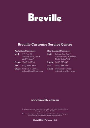 Breville Customer Service Centre - Appliances Online