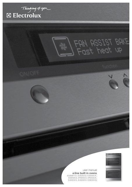 user manual e:line built in ovens - Appliances Online