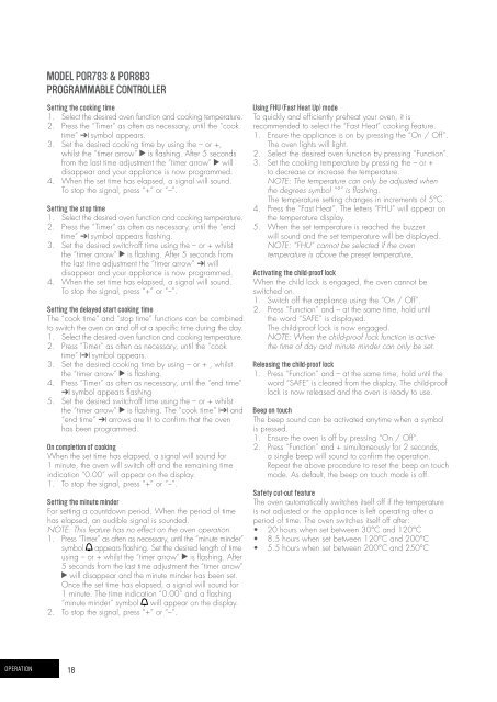 USER MANUAL - manuals.appliance... - Appliances Online