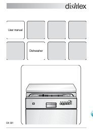 User manual Dishwasher - Appliances Online
