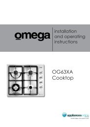 OG63XA Cooktop - Appliances Online