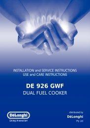 DE 926 GWF - Appliances Online