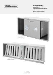 Undermount user manual.pdf - St George Appliances