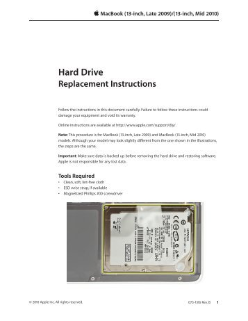 Hard Drive Replacement Procedure Cloud