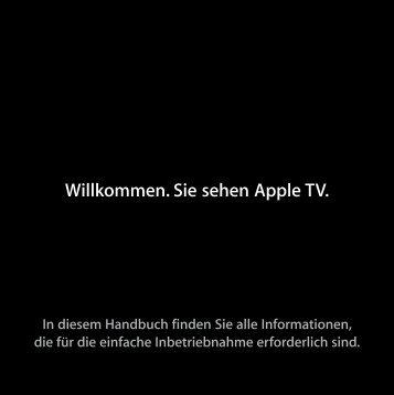 Apple TV Installationshandbuch - Support - Apple