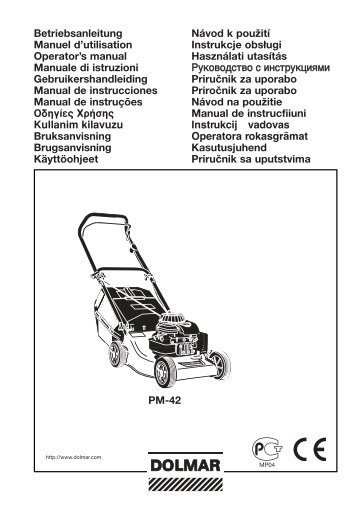 PM-42 Betriebsanleitung Manuel d'utilisation Operator's manual ...