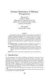 Dynamic Maintenance of Delaunay Triangulations